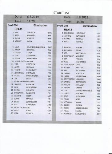 Vet Elimination heat 1